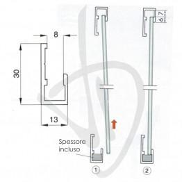 profilo-per-supporto-specchi-singolo-misure-l3000xh30xp13-mm